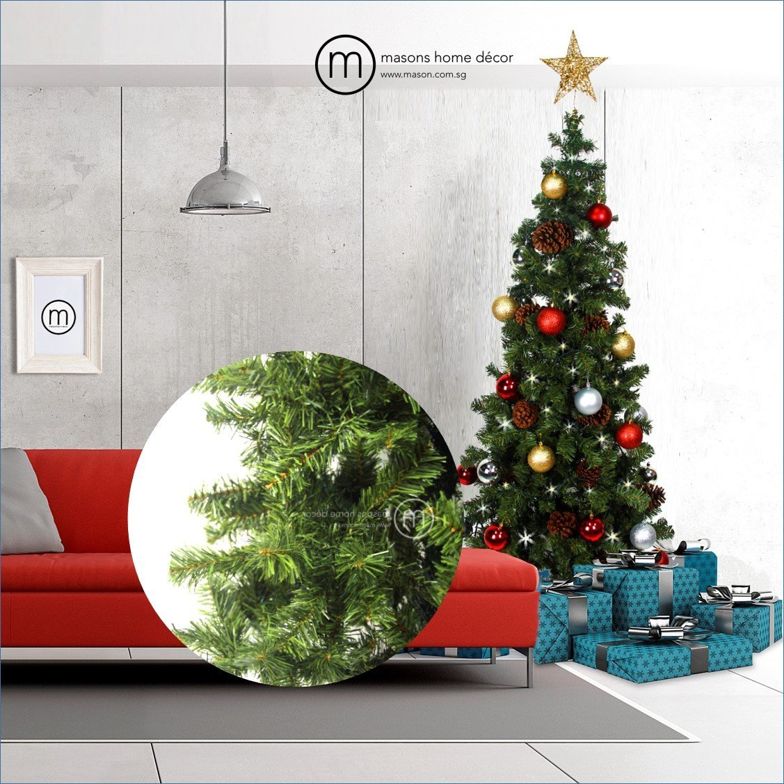 Aamer christmas tree artificial canadian pine christmas for Home decor canada