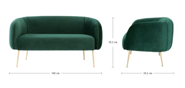 alero 2 seater dark green sofa by masons home decor singapore 5
