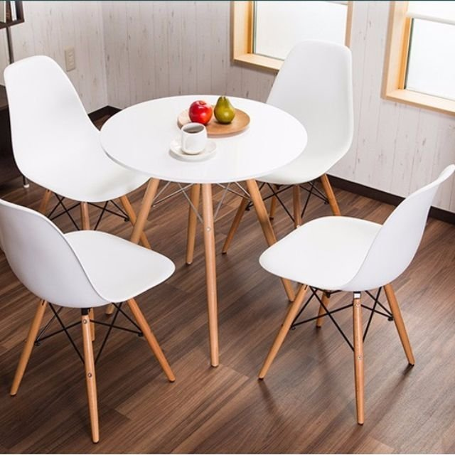 style round dining table set