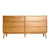 mason natural oak solid wood chest of drawer