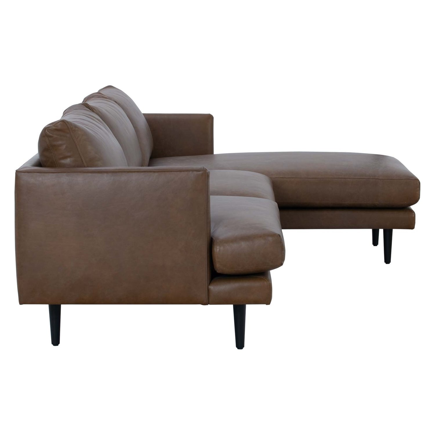 duster brown leather l shape sofa 8