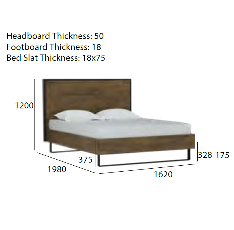 brinhill queen bed dimensions