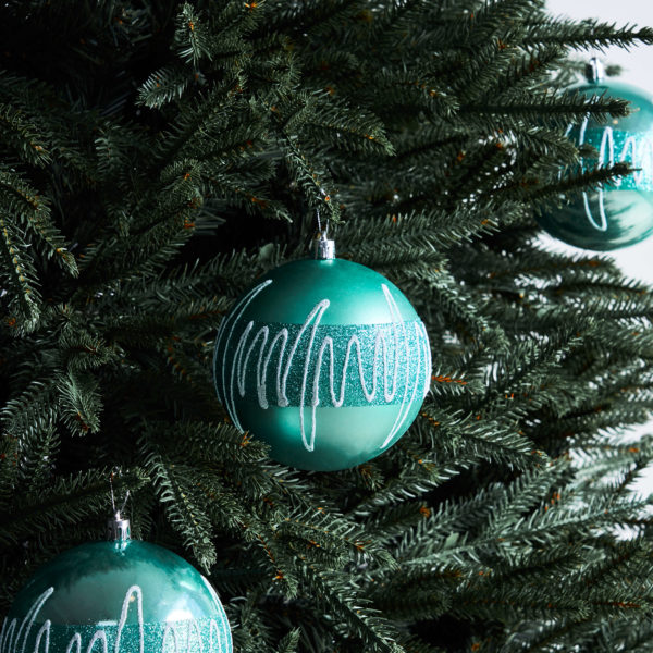 rize turqouise blue baubles - christmas ornaments by masons home decor singapore